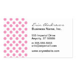 Pink and White Dots pattern Business Card Templates