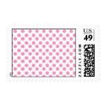 Pink and White Dots pattern Stamps