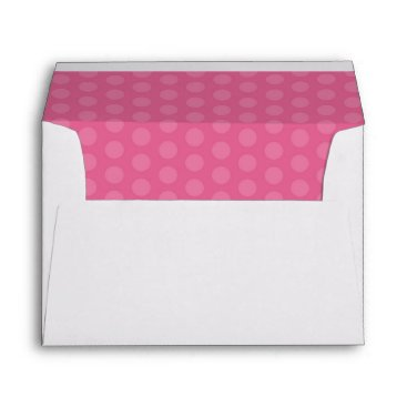 partridgelanestudio Pink and White Dots With Return Address Envelope