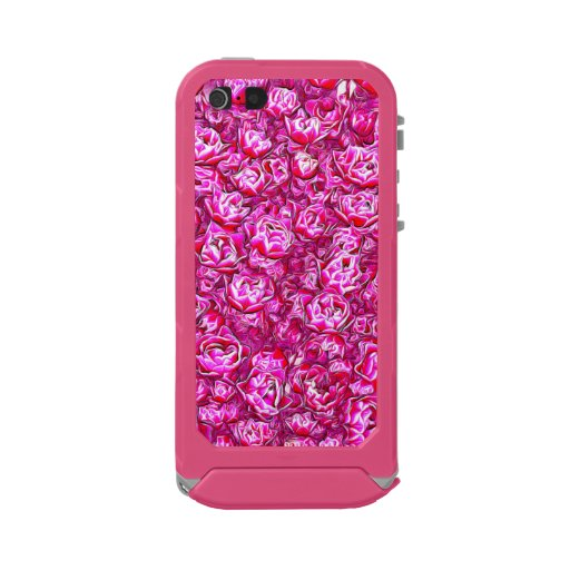 Pink and White Fancy Tulip Melange Waterproof Case For iPhone SE/5/5s
