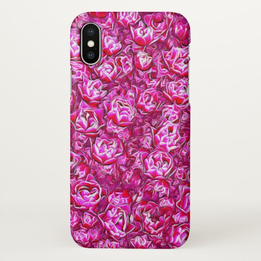 Pink and White Fancy Tulip Melange iPhone X Case