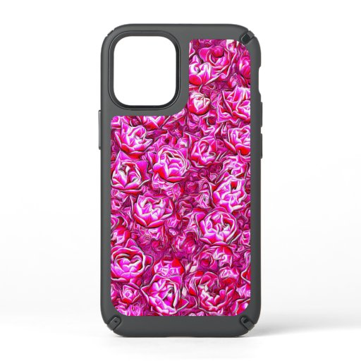 Pink and White Fancy Tulip Melange Speck iPhone 12 Mini Case