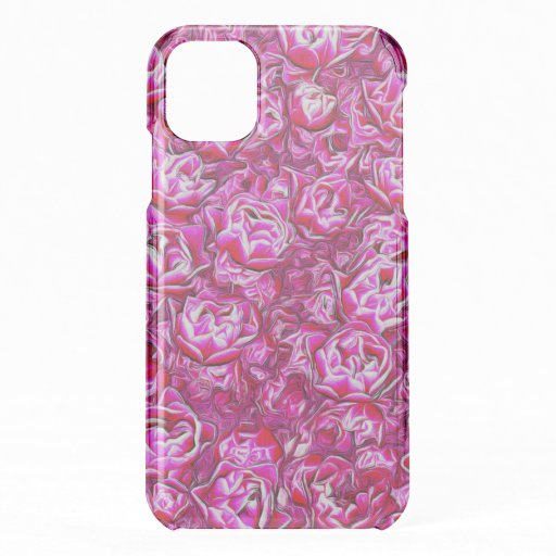 Pink and White Fancy Tulip Melange iPhone 11 Case