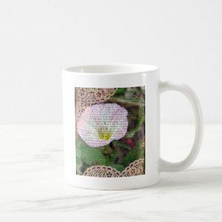 Pink and White Field BindWeed Coffee Mug