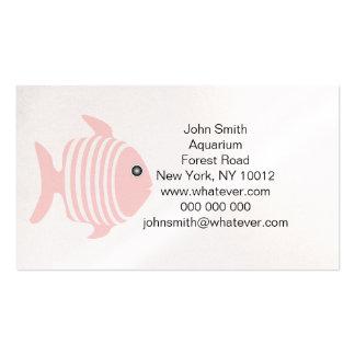 Pink And White Fish Aquarium Business Card