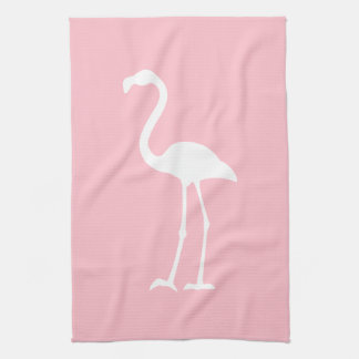 Pink and White Flamingo Kitchen Towel