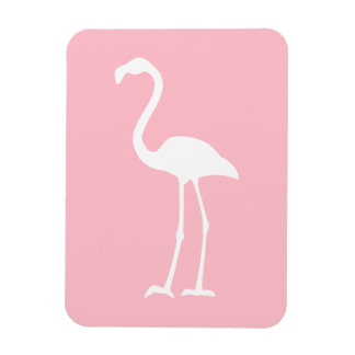 Pink and White Flamingo Magnet