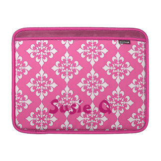 Pink and White Fleur De Lis Pattern Phone Cover