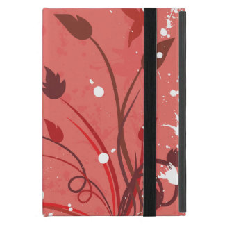 Pink and White Floral Butterfly Grunge iPad Mini Case