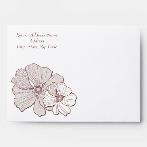 Wedding Gift Envelope Address : Pink and White Floral Design Wedding Envelopes Envelopes Zazzle
