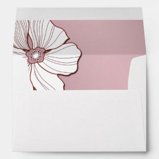 Pink and White Floral Design Wedding Envelopes Envelopes