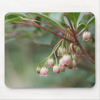 Pink And White Floral Mouse Pad