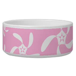 Pink and white floral pattern. bowl