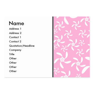 Pink and white floral pattern. business card templates