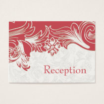 Pink and White Floral Spring Wedding Business Card