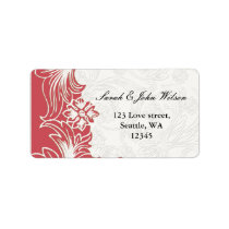 Pink and White Floral Spring Wedding Label