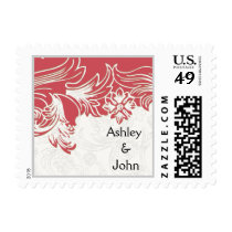 Pink and White Floral Spring Wedding Postage