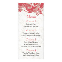 Pink and White Floral Spring Wedding Rack Card