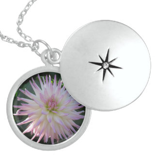 Pink And White Flower Locket Necklace