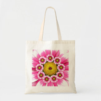 Pink and White Flower Macro Bag