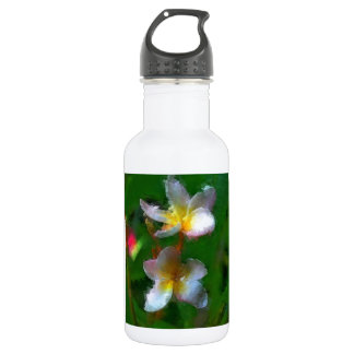 Pink And White Flower Multiple Stainless Steel Water Bottle