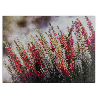 Pink and White Flowers, Bokeh Background Cutting Board