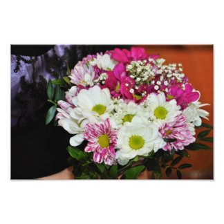 Pink and white flowers bouquet photo
