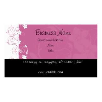 Pink and White Flowers Double-Sided Standard Business Cards (Pack Of 100)