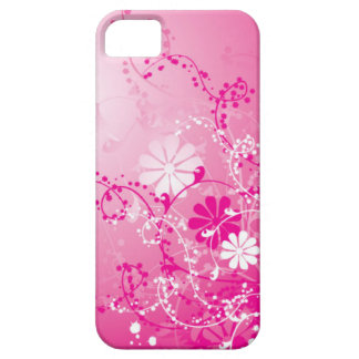 Pink and White Flowers iPhone 5 Barely There Case