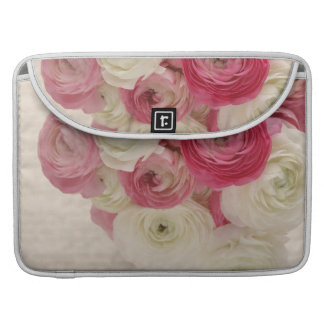 pink and white flowers, script Macbook pro sleeve