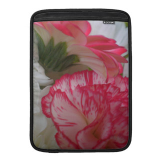 Pink and white  Flowers Theme Mac Book Sleeves