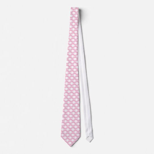 Pink and white Football Tie