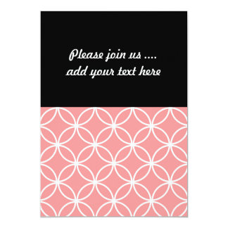 Pink and White Geometric Design Overlapping Circle Card