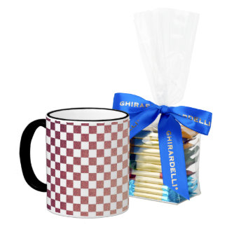 Pink and White Gingham Check 11 Oz Magic Heat Color-Changing Coffee Mug