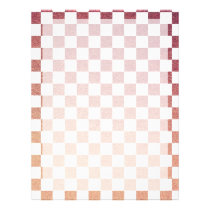 Pink and White Gingham Check Flyer