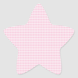 Pink and White Gingham Check Stickers