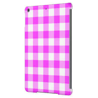 Pink and White Gingham Pattern Cover For iPad Air
