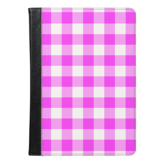 Pink and White Gingham Pattern iPad Air Case