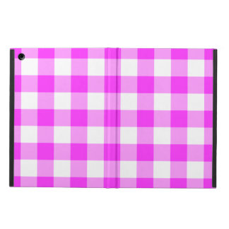 Pink and White Gingham Pattern iPad Air Cover
