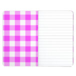 Pink and White Gingham Pattern Journal