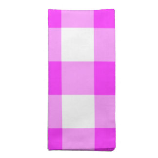 Pink and White Gingham Pattern Napkin