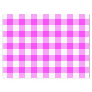 Pink and White Gingham Pattern Tissue Paper
