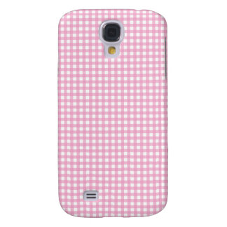 Pink and White Gingham Samsung Galaxy S4 Cover
