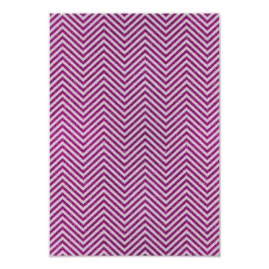 Pink and White Glitter Zig Zag Card