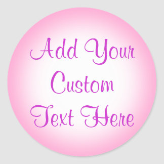 Pink And White Gradient Custom Stickers