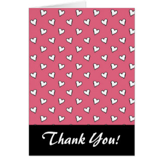 Pink and White Heart Pattern Card
