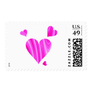 Pink and White Hearts Stamps