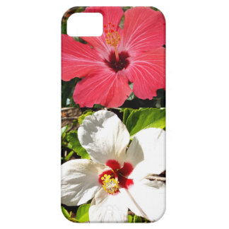 Pink and White Hibiscuses iPhone SE/5/5s Case