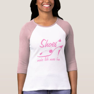 Pink and White High Heel Shoes T-Shirt