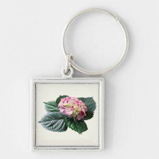 Pink and White Hydrangea Key Chains